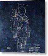 Space Suit Patent Illustration Metal Print