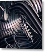 Space Time Location Metal Print