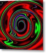 Space Twister Metal Print