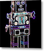 Spaceman Robot Metal Print