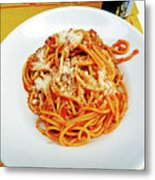 Spaghetti Bolognese Metal Print