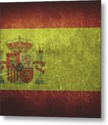 Spain Distressed Flag Dehner Metal Print