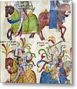 Spain: Knights, C1350 Metal Print