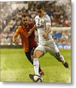 Spain Soccer Bernabeu Trophy Metal Print