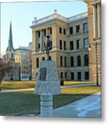 Spanish American War Memorial At Lucas County Courthouse 0098 Metal Print