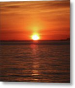Spanish Banks Sunset - Digital Oil Metal Print