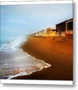 Spanish Beach Chalets Metal Print
