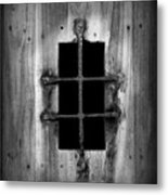 Spanish Fort Window Metal Print