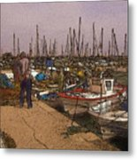 Spanish Harbour Metal Print