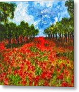 Spanish Poppies Metal Print