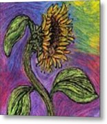 Spanish Sunflower Metal Print