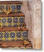 Spanish Tile Stair  Metal Print