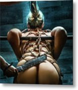 Spanking - Fine Art Of Bondage Metal Print