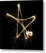 Sparkling Star Metal Print