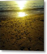 Sparkly Beach Sunset   Metal Print