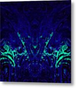 Sparkly Blues In. A Metal Print