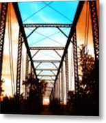 Sparksville Bridge Metal Print