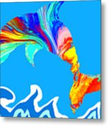 Speaking With Dolphins Metal Print