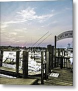 Speared Sunset Over Martha's Vineyard Metal Print