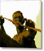 Spearfishing Man Metal Print