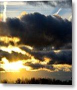 Spectacular Sunrise In Clouds Metal Print