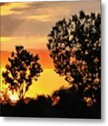 Spectacular Sunset In The Midwest Metal Print