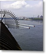 Speed Boats On The East River Metal Print