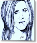 Speed Drawing Of Jennifer Aniston  Metal Print