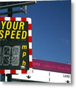 Speed Up Metal Print