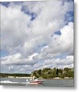 Speedy Red Boat Metal Print