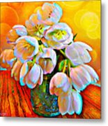 Spektrel Flowers Metal Print