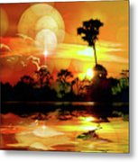 Spektrel Reflected 2 Metal Print