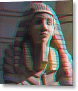 Sphinx - Use Red-cyan 3d Glasses Metal Print