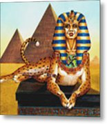 Sphinx On Plinth Metal Print