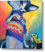 Sphynx Cats Friends Metal Print