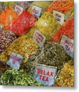 Spice Market In Istanbul Metal Print