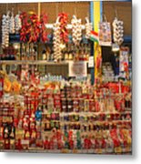 Spice Stall Metal Print