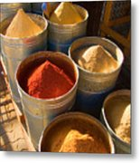 Spices In Marrakesh Morroco Metal Print