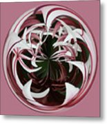 Spider Lily Orb Metal Print