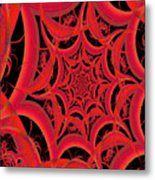 Spider Web Flame Fractal Abstract 793 Metal Print