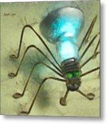Spiderlamp Metal Print
