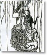 Spiderweb Metal Print