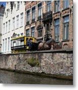 Spieglerei Canal In Bruges Belgium Metal Print