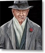 Spiffy Old Man Metal Print