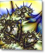 Spikes And Sky Pillows Metal Print