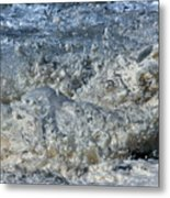 Spikey Frothy Splash Of A Momenary Water Sculpture Metal Print