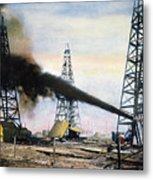 Spindletop Oil Pool, C1906 Metal Print