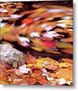 Spinning Leaves Of Autumn Metal Print