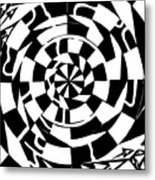Spinning Tunnel Maze Metal Print
