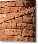 Spiral Bricks Metal Print